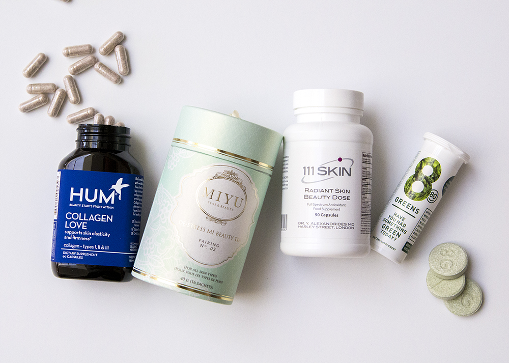Beauty supplements for younger looking skin