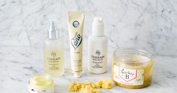honey products therapi worker b earth tu face lanolips