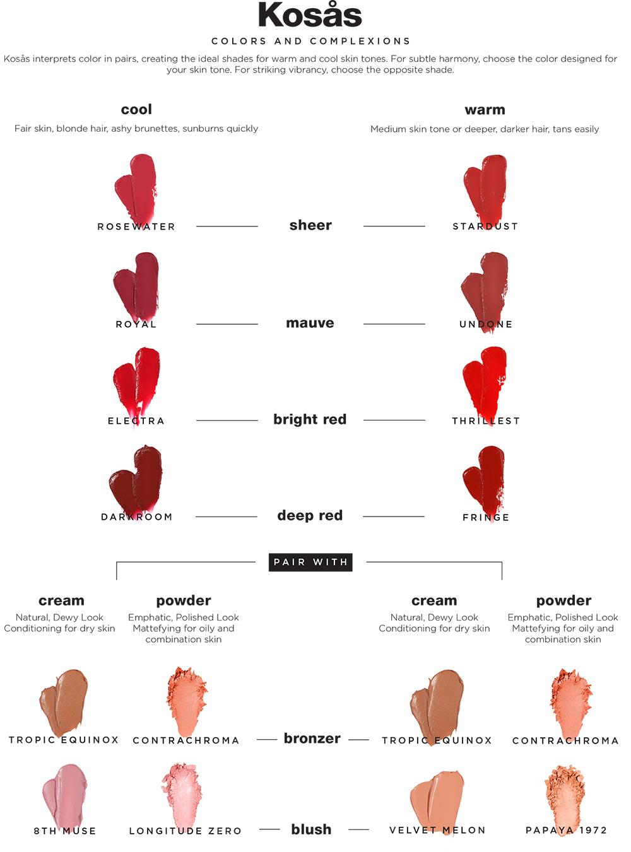 kosas color chart